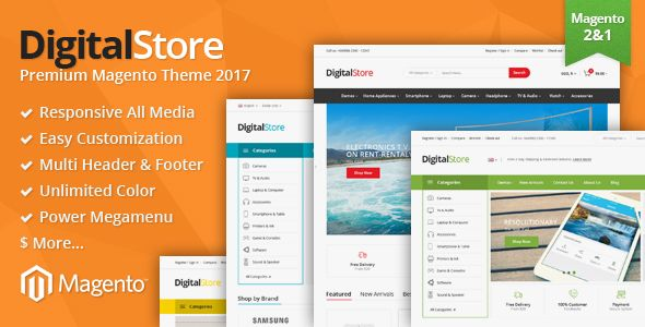 Overview Digitalstore is a Premium Responsive Magento theme with extremely customizable admin...