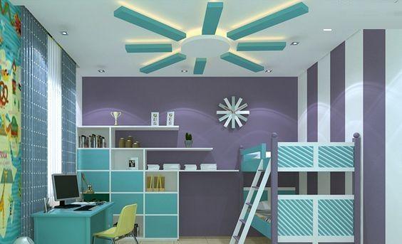 simple plaster of paris designs for ceiling for kids bedroom interior design