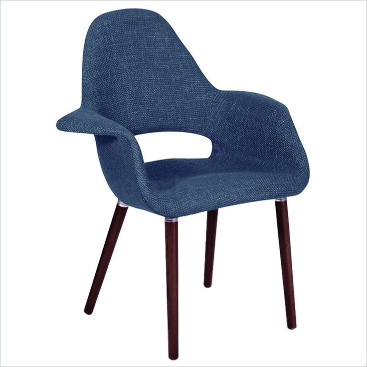 Bring Chic Style To Your Living Room Or Den With This Midcentury Inspired Accent Chair Showcasing Navy Upholstery And Exposed Beech Wood Legs