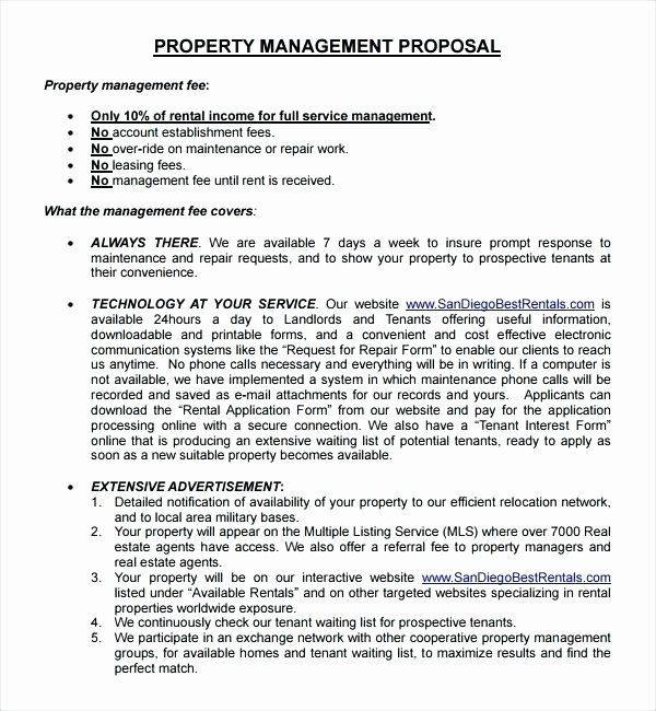 Property Management Proposal Template In 2020 Property