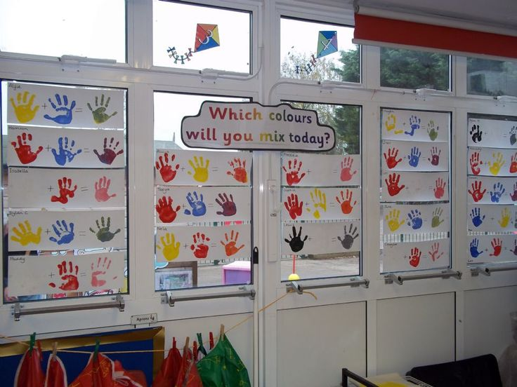 Great way to teach colour mixing.