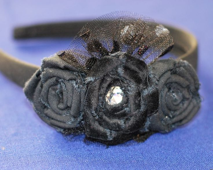 ragged edge rosesRosette Headband