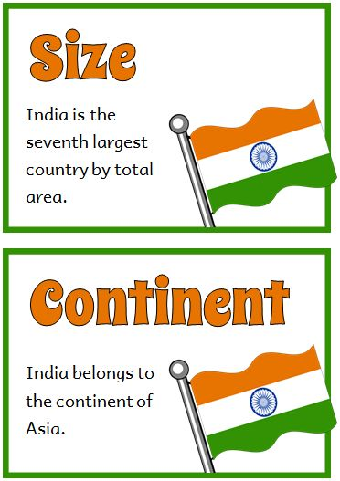 India Fact Cards - Treetop Displays - Printable EYFS, KS1, KS2 classroom displays & primary teaching resources