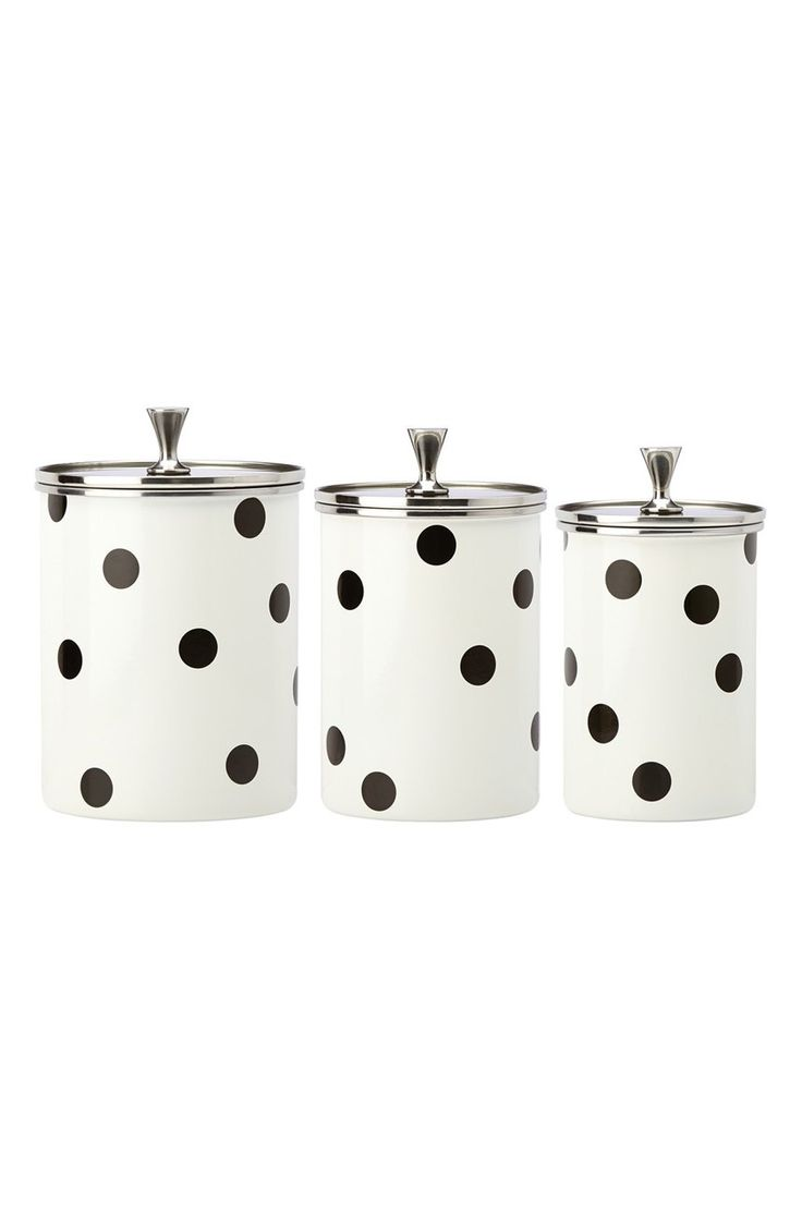 best 25 canisters ideas only on pinterest kitchen canisters i am in love with these polka dot canister set
