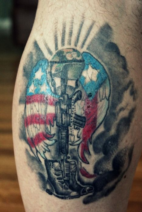 Pin pin fallen soldiers memorial tattoos on pinterest on for Fallen soldier tattoo