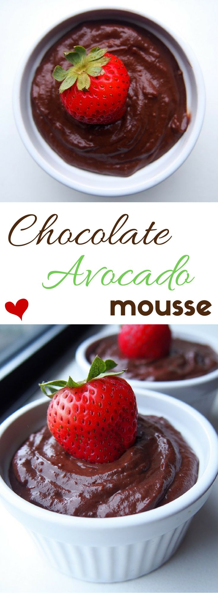 A simple, quick & easy healthy chocolate avocado mousse