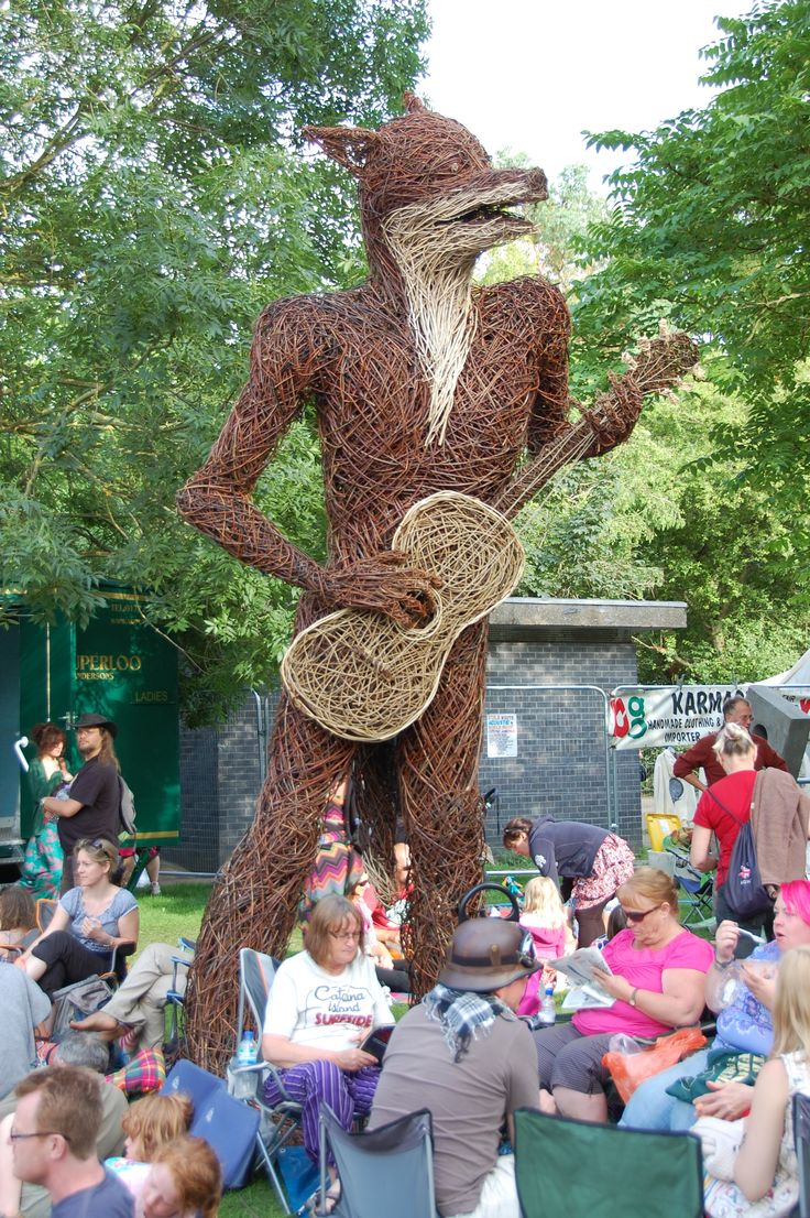 Wicker sculpture at Cambridge Folk Festival 2012