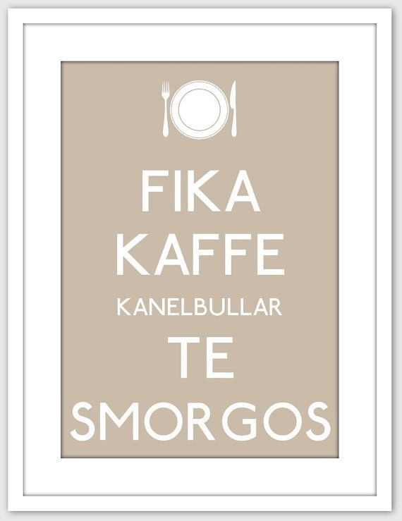 #Fika swedish culture Poster by NatureWhisper on Etsy, $20.00