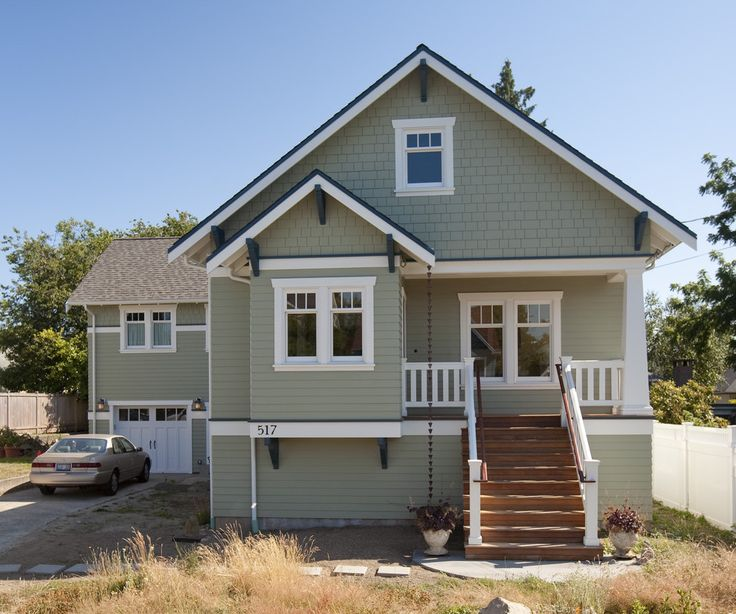 Greenlake Custom Home Traditional Exterior Paint Colors Are: Benjamin Moore  Body U2013 Weekend Getaway, 473 Trim U2013 Cloud Nine, OC Accent U2013 Newburg Green,  ...
