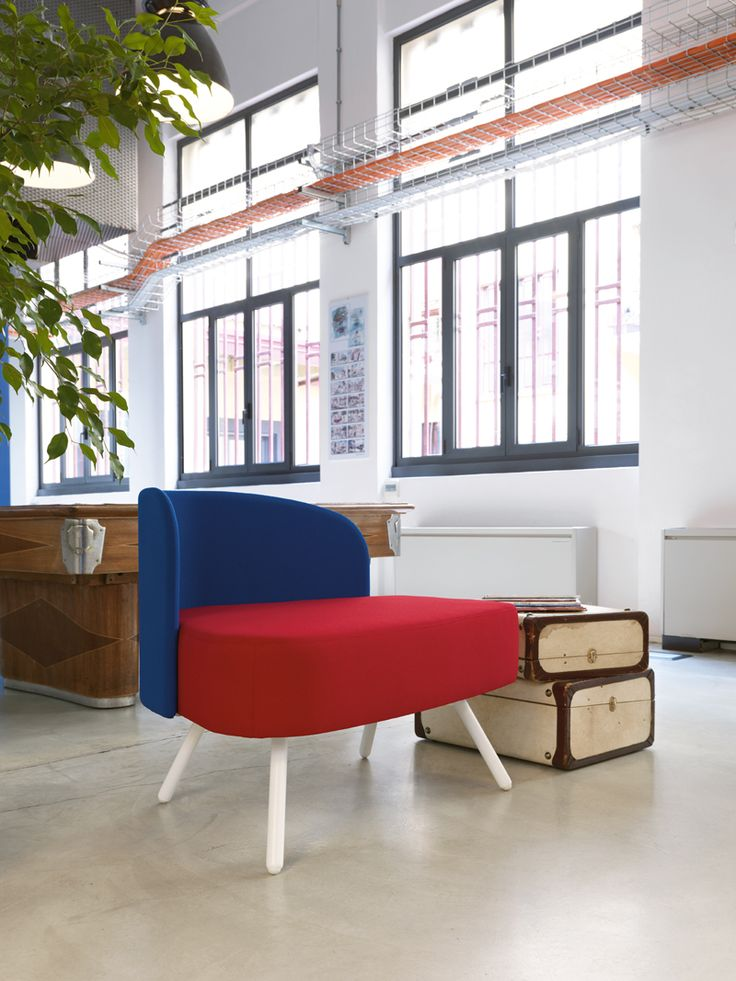 Office sofà with a unic design #waiting #area #Blog_Sesta