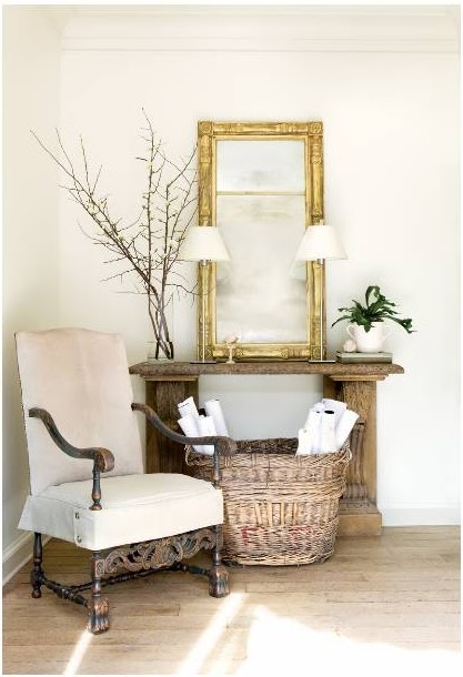 architect Stan Dixon's office from Atlanta Homes & Lifestyles: Decor Ideas, Living Rooms, Gold Mirror, Dixon Offices, Atlanta Home, Homes, Entryway, Stan Dixon, Design Offices