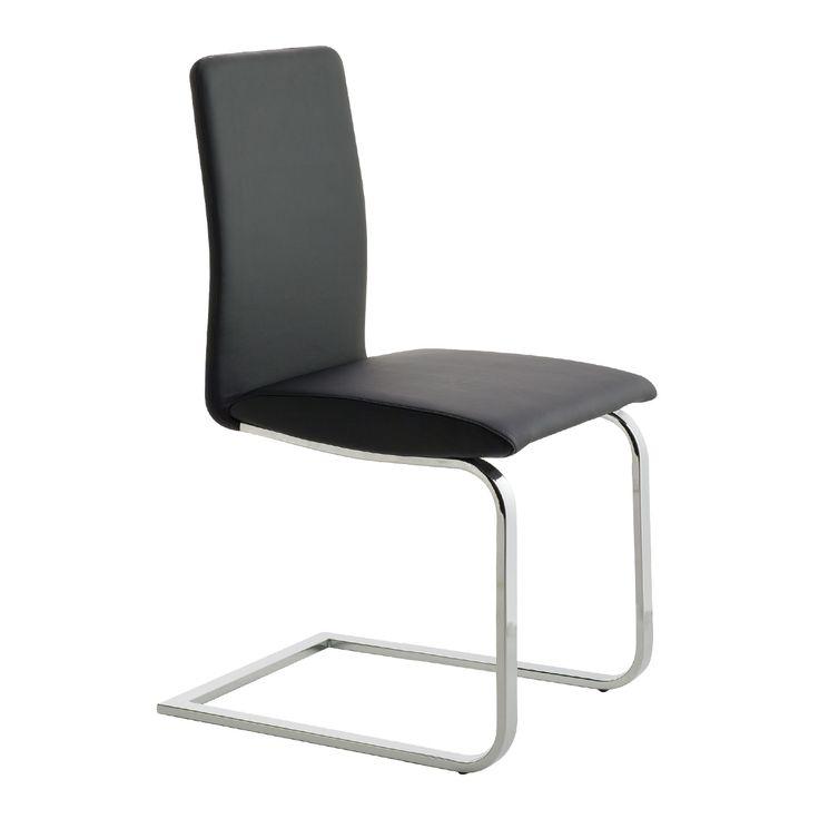 LISA SL #sconto 50% #sedia da pranzo #elegante con schienale alto, base #cantilever in metallo cromato e seduta imbottita e rivestita in #ecopelle. In #offerta su #chairsoutlet factory #estore #arredamento. Comprala adesso su www.chairsoutlet.com
