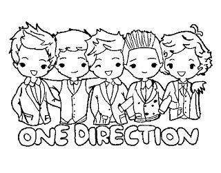 one direction coloring page to print and color in great addition to a party favor