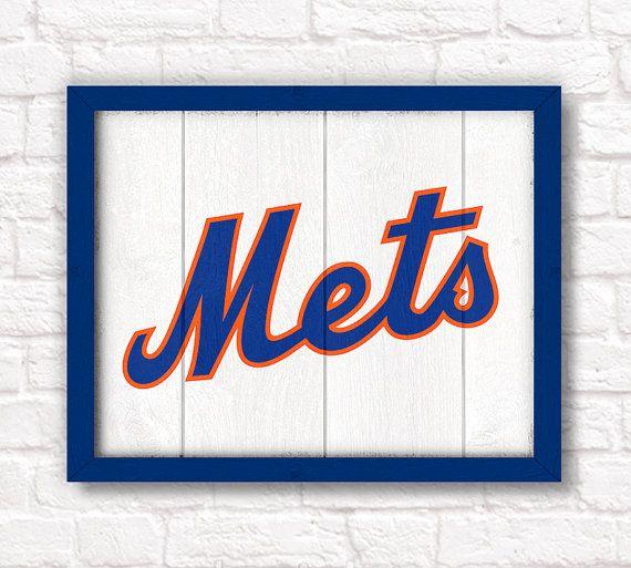 New York Mets  rustic handmade sign