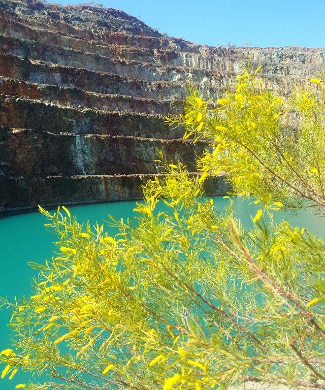 Abandoned uranium mine, near Mary Kathleen Park, Mount Isa, Australia.
