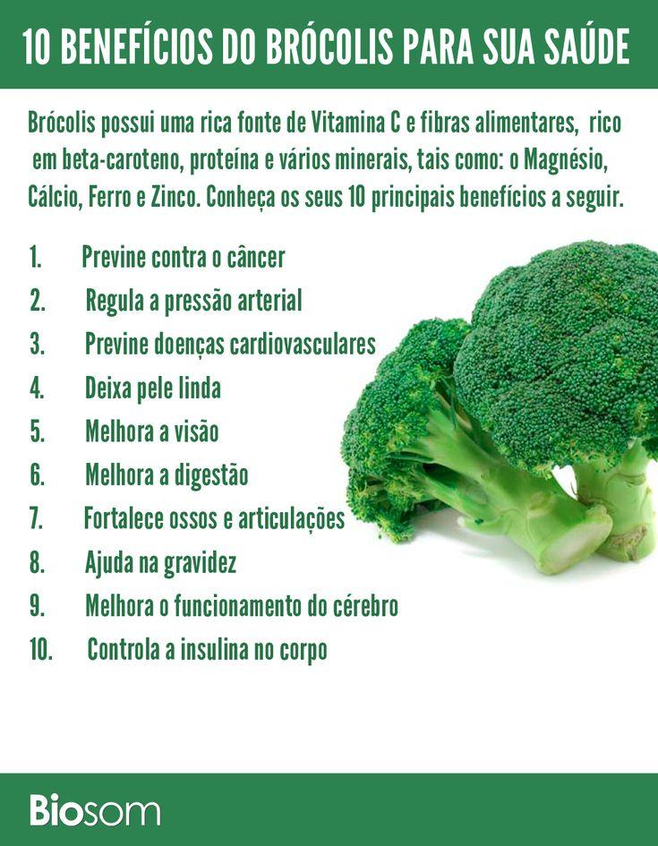 Clique na imagem e conheça os 10 benefícios de brócolis para a saúde #brócolis #alimento #alimentação #alimentaçãosaudável #dieta #saúde #bemestar