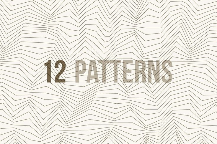 Line and Wave Patterns by magnia on @creativemarket