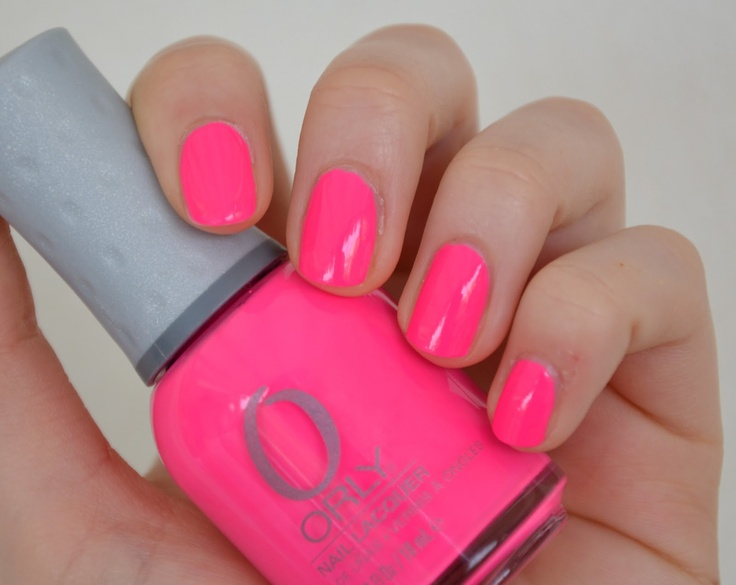okay. i've decided. THIS neon pink (orly beach cruiser) needs to be in my nail polish collection.