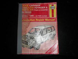 Haynes Automotive Repair Manual 1984-1995 Mini Vans