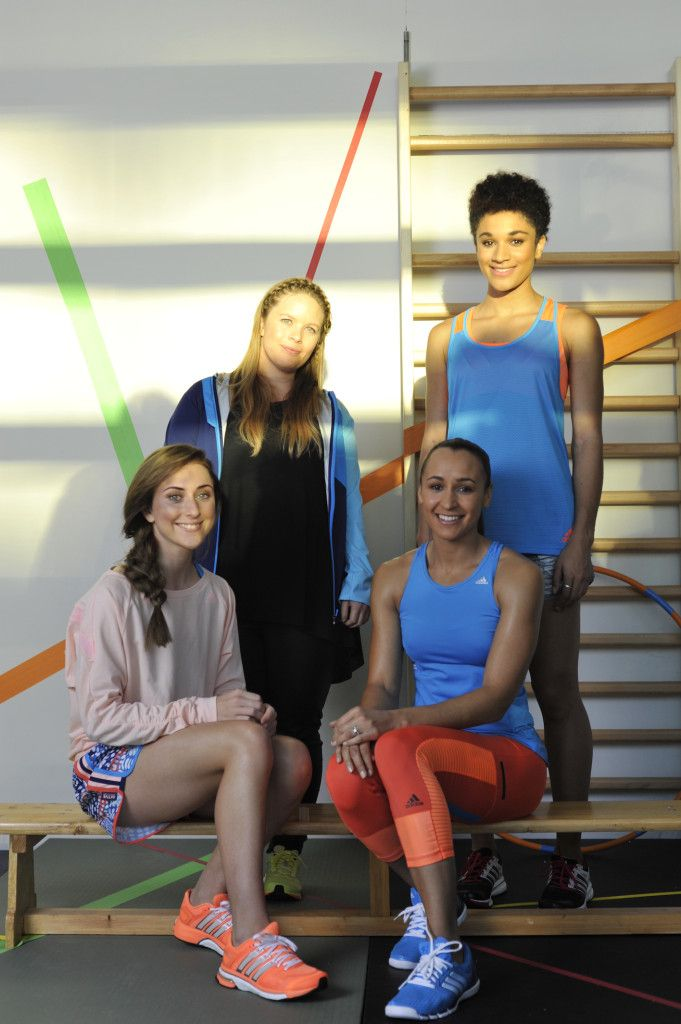 Behind the scenes with Jessica Ennis, Laura Trott and Jodie Williams at the  Adidas SS14 shoot  www.adidas.co.uk/workout