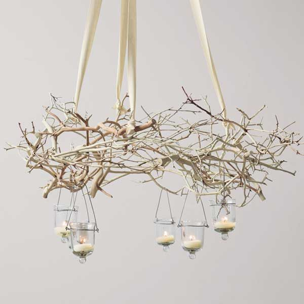 30 Creative DIY Ideas For Rustic Tree Branch Chandeliers | Branch ...