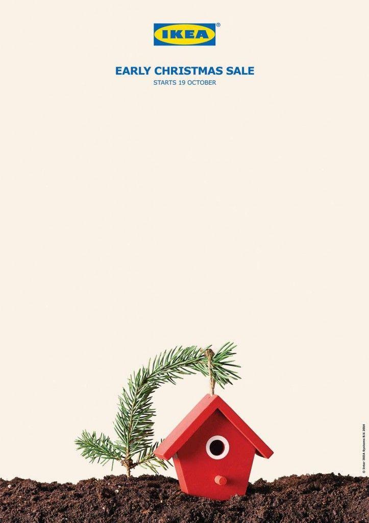 一足早いクリスマスセールを告知する、至極のプリント広告   AdGang