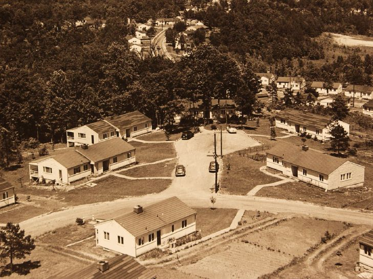 Alphabet Houses at Oak Ridge - Groves appointed 34-year-old Colonel Kenneth D. Nichols as his second in command. Nichols' title was district engineer for the Manhatttan Engineer District (MED). Using the Andrew Jackson Hotel in Knoxville as his base, Nichols began working on the production site in East Tennessee.