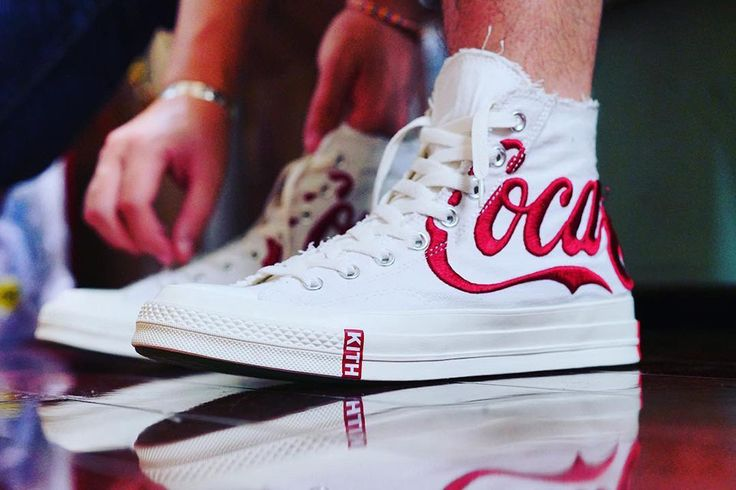 Images of what looks like an official Kith x Converse x Coca-Cola collab have surfaced on Instagram, showing a dual branded Chuck Taylor All Star '70.