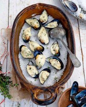 Mosselgratin met tijm - Recepten - Culinair - KnackWeekend.be