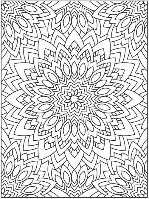 full page mandala coloring pages - photo #18
