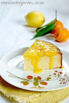 Gâteau yaourt citron et crème mandarine