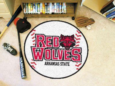 "Arkansas State Baseball Mat 27"" diameter"