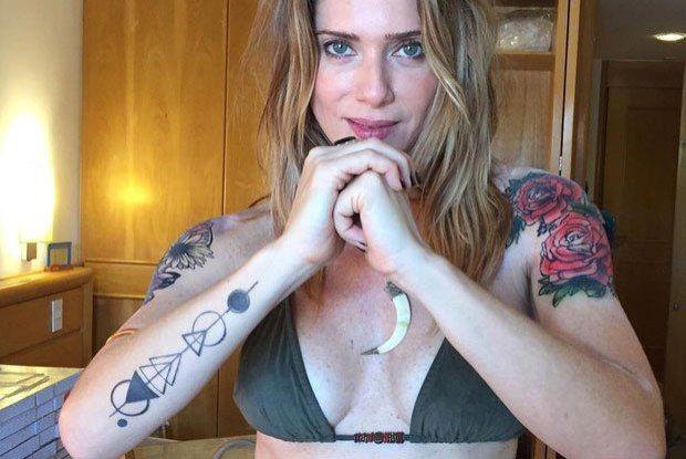 Letícia Spiller mostra as tatuagens temporárias que fez para novela - Celebridades - O Dia
