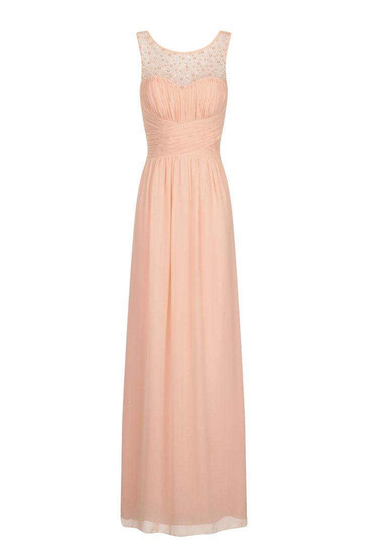 Foto 1 von Little Mistress Nude Embellished Maxi Dress