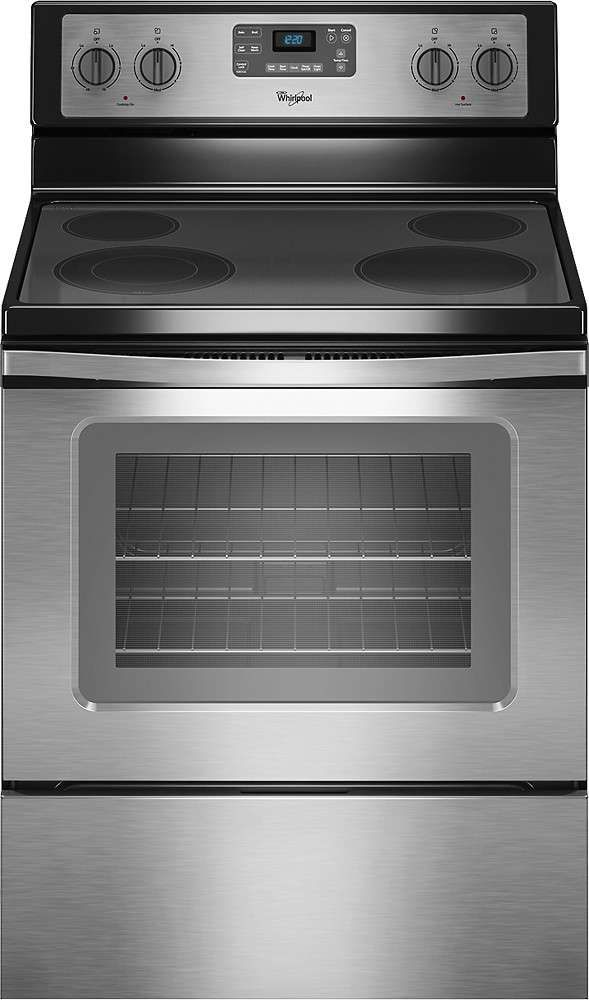 Lowest Price On Whirlpool Wfe515s0es 30 Stainless Steel Electric Smoothtop Range Shop Today Freestanding Electric Ranges Electric Range Glass Cooktop