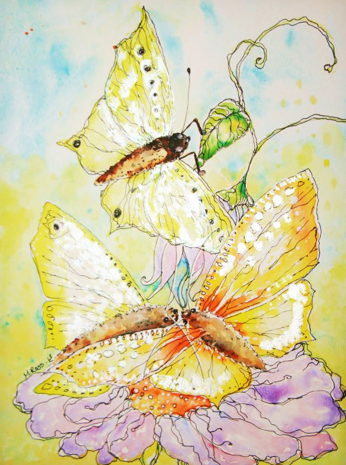 Perhoset-Akvarelli