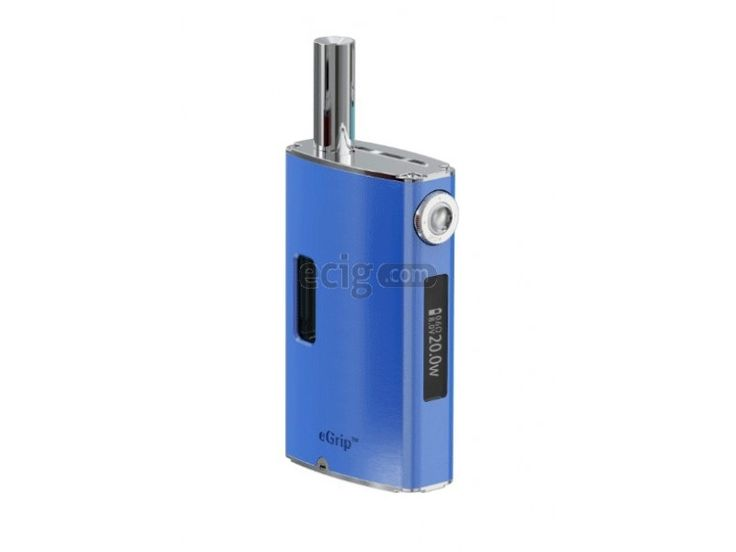 Joyetech E-Grip OLED Kit. The eGrip is an cigarette from Joyetech that is the first ever to have a built in dedicated atomizer and atomizer eGrip CS head (1.5 ohm resistance). Comes with a clear liquid window and even a 360 regulation ring to adjust the wattage from 8W to 20W. Air flow can be customized with a special tool to suit your vaping habits.