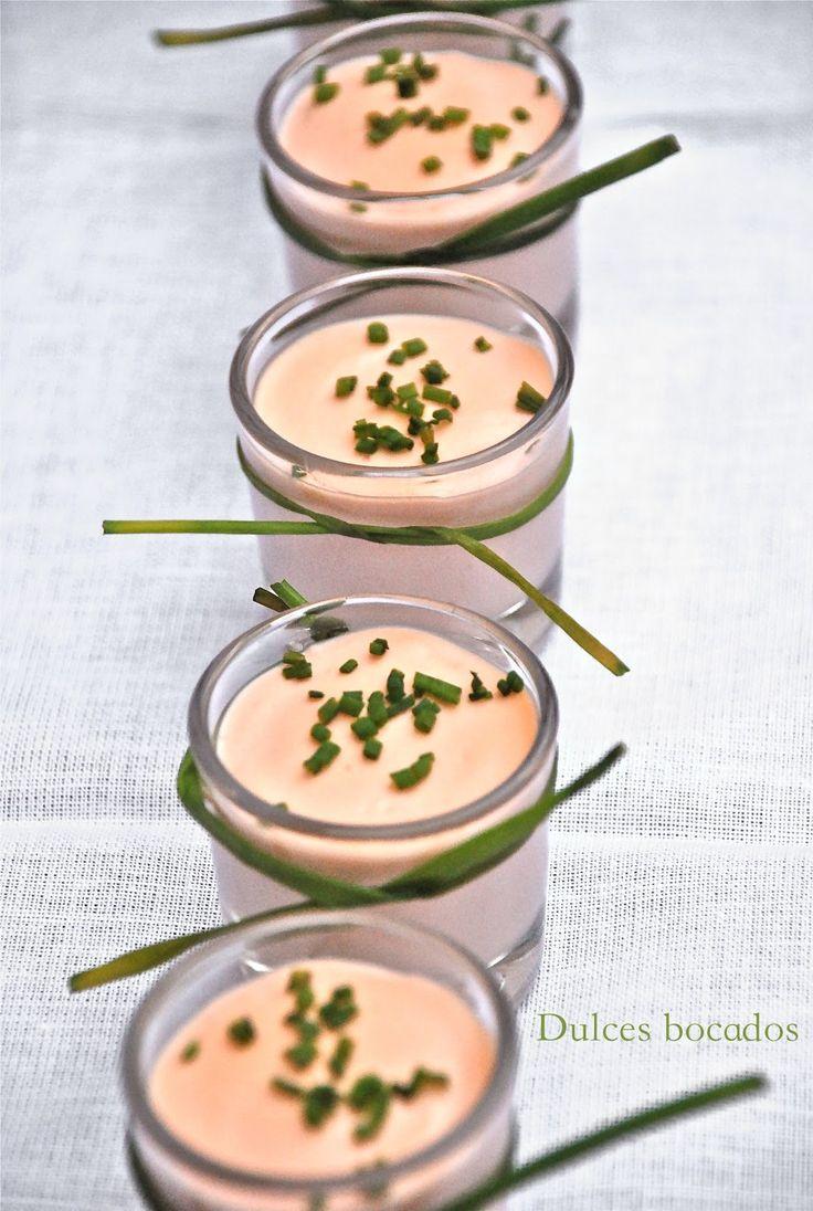 Dulces bocados: Panna cotta de salmón ahumado