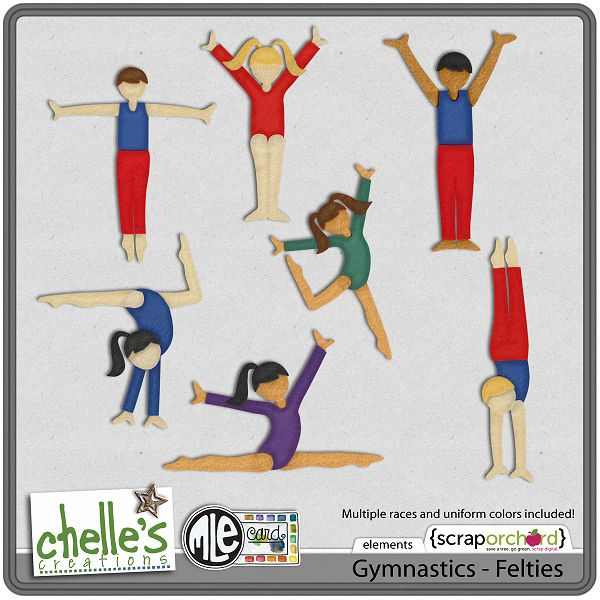 Gymnastics Stickers Scrapbooking Paper Crafts