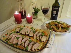 Edels Mat & Vin: Svinefilet på grønnsakseng ♫♫♥