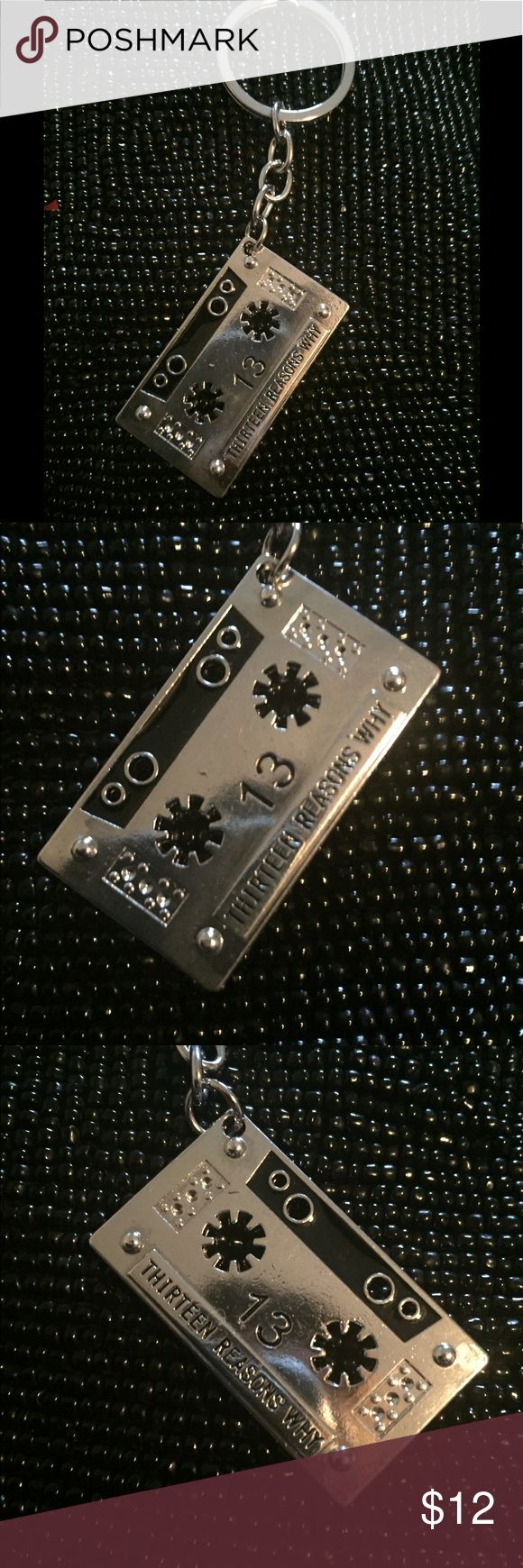 "Cult Of Personality, 13 Reasons Why Keychain, NWT Emporiama's Cult Of Personality, 13 Reasons Why Keychain, NWT  This Keychain Is A Base Of Silver Tone Metal Engraved & Stamped With Thirteen Reasons Why Set With Black Enamel  The Design Appears On Both Sides  It Measures  4"" In Total Length Two Of These Are Available  Bundle Two Or More Items From My Shop & Save 25% Automatically! Plus You'll Save A Bunch On Shipping! Emporiama Accessories Key & Card Holders"