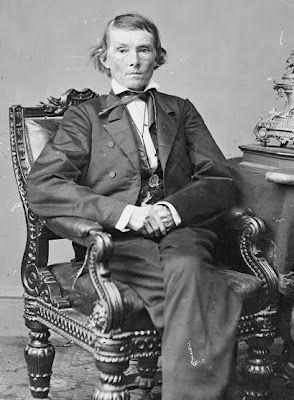 "Confederate Vice President Alexander Hamilton Stephen delivered ""the Cornerstone Speech"" March 21st 1861 in Savannah, Georgia."