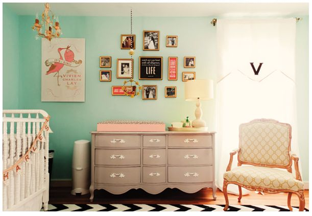 baby girl: Wall Colors, Idea, Dressers, Colors Schemes, Baby Girls, Baby Rooms, Changing Tables, Girls Nurseries, Girls Rooms