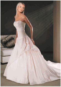 Abiti da sposa senza spalline semplici e chic