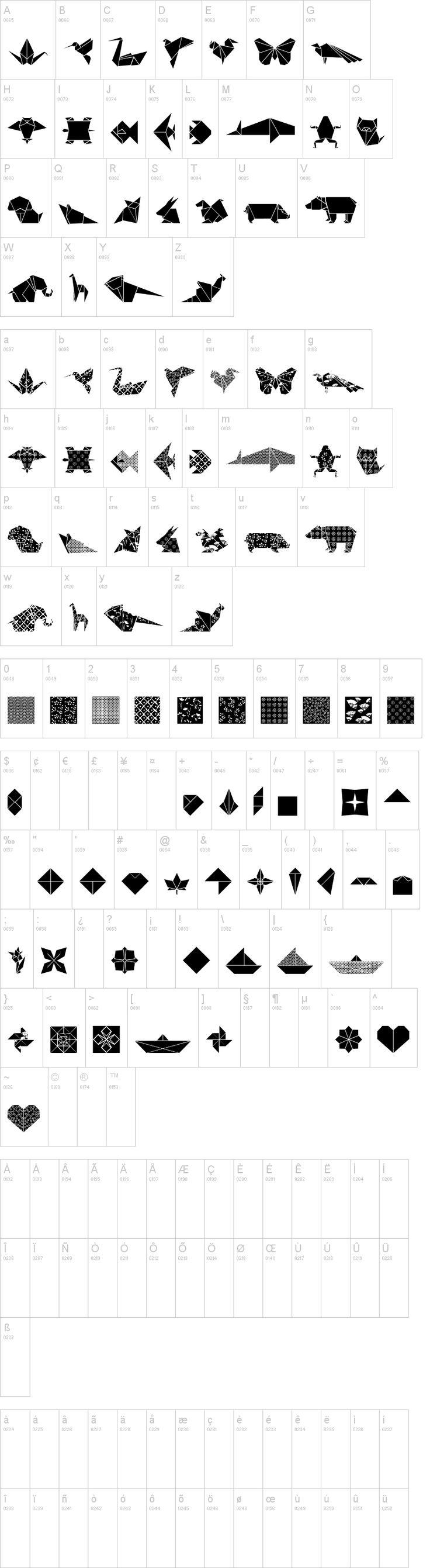 Origami on dafont.com ... I soooooo need this!!! Love It!