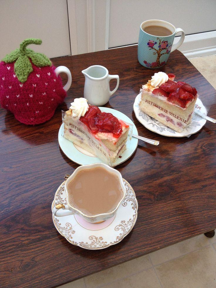 Patisserie Valerie - strawberry gateau