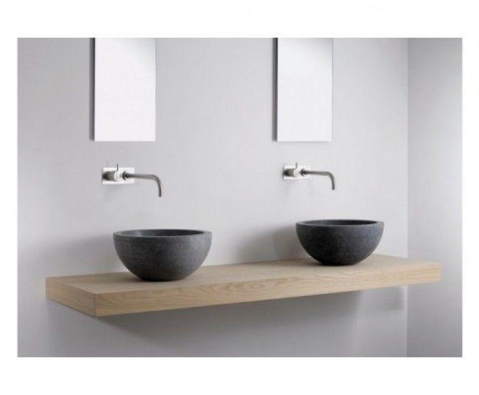 Badkamer plank hout google zoeken badkamer pinterest badkamer houten wastafel en - Badkamer exotisch hout ...