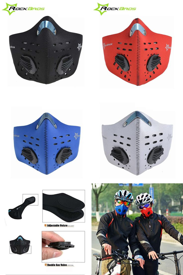 [Visit to Buy] RockBros Cycling Face Mask Training Mask Men Women 4 Colors Dustproof Wind Protection Face Shield Bike Mask Ski Accessories #Advertisement