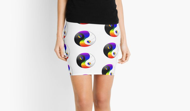 Beyond Dualism - Mini Skirt  Available in my Redbubble Store  http://www.redbubble.com/people/robinbcreative?asc=u