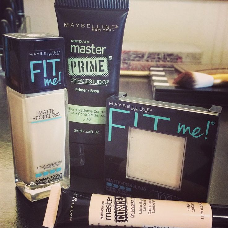 NEW Maybeline Fit Me Matte & Poreless ! This foundation and powder is awesome; the name speaks for itself. Beautiful blendable flawless coverage, you don't even need a primer!!! My new fav. foundation♡♡♡